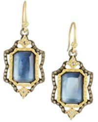 Armenta - Emerald-cut Triplet Drop Earrings W/ 18k Gold - Lyst