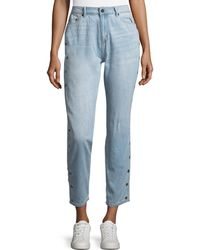 The Fifth Label - Side-button Cropped Jeans - Lyst