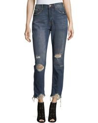 Band Of Gypsies - Madison High-rise Distressed Skinny Jeans - Lyst