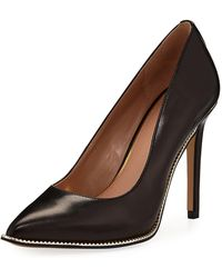 BCBGeneration - Harleigh Chain-trim Faux-kidskin Pumps - Lyst