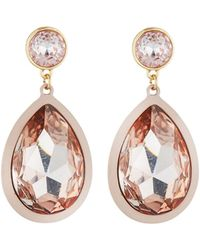Fragments - Teardrop Crystal Earrings - Lyst