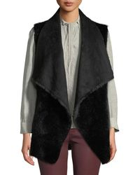 Love Token - Ultra Faux-suede Faux-fur Lined Vest - Lyst