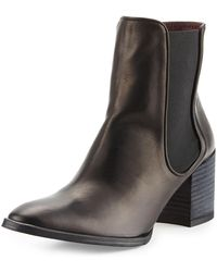 Etienne Aigner - Tate Leather Stretch Bootie - Lyst