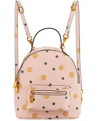 Neiman Marcus - Dotted Faux-saffiano Backpack Bag - Lyst