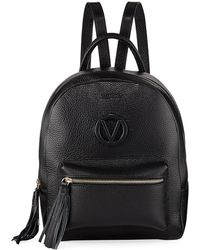 Valentino By Mario Valentino - Bastien Tassel-zip Leather Backpack Bag - Lyst