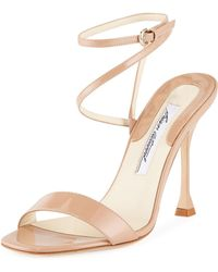 Brian Atwood - Sienna Patent Leather Ankle-wrap Sandals - Lyst