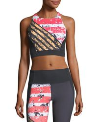 Under Armour - Mirror Shine Crop Performance Sports Bra - Lyst