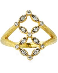 Jude Frances - Lisse 18k Gold Diamond Ring - Lyst