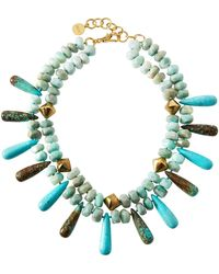 Nest - Double-strand Amazonite & Turquoise Necklace - Lyst