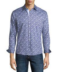 Neiman Marcus - Slim-fit Floral Wear-it-out Sport Shirt - Lyst