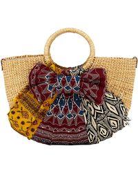 Sam Edelman - Jaelynn Straw Paper Basket Satchel Bag - Lyst