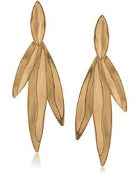 Trina Turk - Linear Leaf Earrings - Lyst