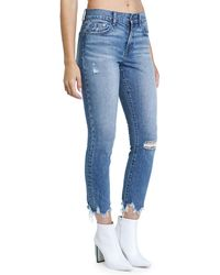 Pistola - Monroe High-rose Raw-edge Skinny Ankle Jeans - Lyst