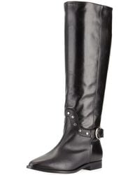 Etienne Aigner - Reese Tall Studded Buckle Flat Boot - Lyst