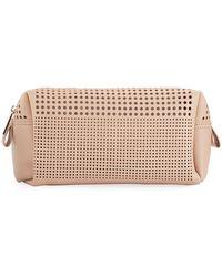 Neiman Marcus - Perforated Cosmetics Bag - Lyst