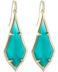 Kendra Scott Olivia Drop Earrings Emerald-hue Cat's Eye