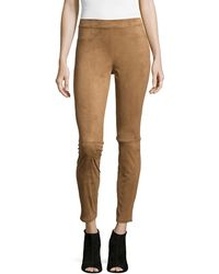 Max Studio - Faux-suede Pull-on Leggings Vicuna - Lyst