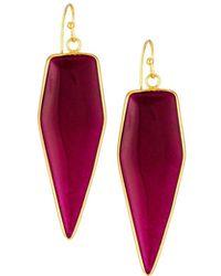 Panacea - Linear Triangle Stone Drop Earrings - Lyst