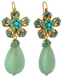 Jose & Maria Barrera Flower Drop Earrings