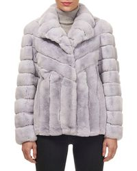 Gorski - Button-down Rabbit Fur Jacket - Lyst