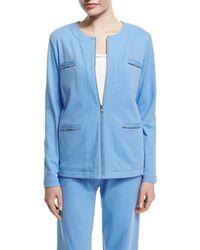 Joan Vass - Long-sleeve Four-pocket Chain-trim Jacket - Lyst