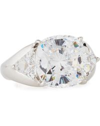 Fantasia by Deserio - Cushion-cut Cz Cocktail Ring Sizes 6 & 8 - Lyst
