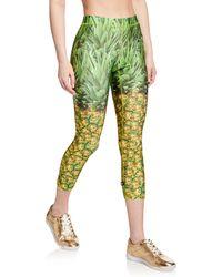 ca8294deef514 Terez - Pineapple Printed Capri Performance Leggings - Lyst