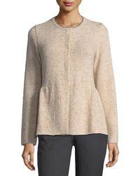 d10a11584e Brunello cucinelli Jacquard Short-sleeve Sweater in Natural
