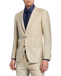 491c0bf7 BOSS 't-norten/bexter'   Slim Fit, Italian Linen Suit in Natural for Men -  Lyst