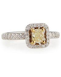 Neiman Marcus - Cushion-cut Yellow Diamond Ring Size 7 - Lyst