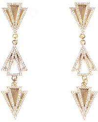 Lulu Frost - Odeon Triple-drop Earrings W/ Crystals - Lyst