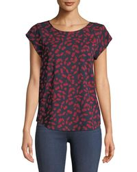 Joie - Rancher Short-sleeve Printed Crepe Blouse - Lyst