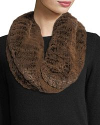 Neiman Marcus - Luxury Rabbit Fur Snood - Lyst