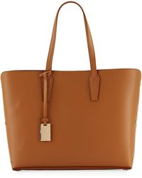 Neiman Marcus - Leather Tote Bag With Rivet Hardware - Lyst