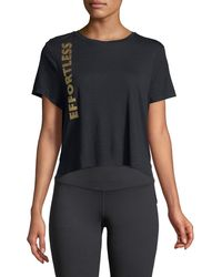 Sam Edelman - Cropped Saying Golden-foil Graphic Tee - Lyst