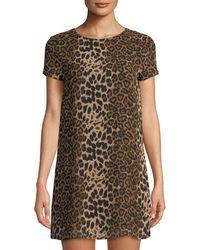 Line & Dot - Effie Leopard-print Shift Dress - Lyst