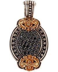 Konstantino - Asteri Petite Oval Pave Black Diamond Pendant - Lyst