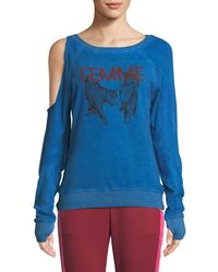 Pam & Gela - Femme One-sided Cold Shoulder Sweatshirt - Lyst
