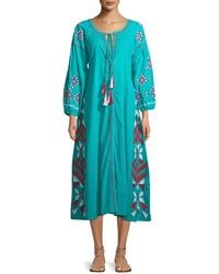 Raj - Kilim Embroidered Button-front Dress - Lyst