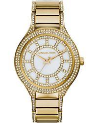 MICHAEL Michael Kors - 38mm Kerry Crystal Bracelet Watch - Lyst