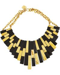 Ashley Pittman | Kifalme Dark Horn & Bronze Bib Necklace | Lyst