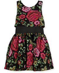 Zoe - Valentine Elastic-waist Rose-print Dress - Lyst