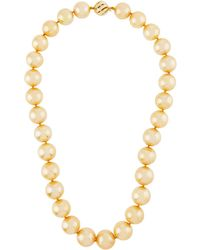 Belpearl - 14k Golden Round South Sea Pearl Necklace - Lyst