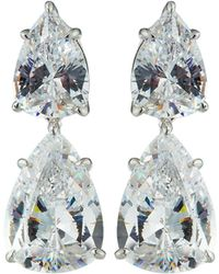 Fantasia by Deserio - Cz Double-drop Earrings - Lyst