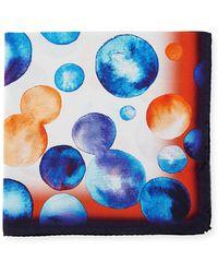 Bugatchi - Bubble-print Silk Pocket Square - Lyst