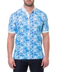 Maceoo - Men's Noisey Printed Jersey Polo Shirt - Lyst