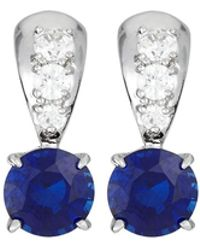 Fantasia by Deserio - Cz Solitaire Drop Earrings - Lyst