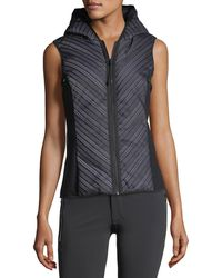 BLANC NOIR - Chevron Reflective Mesh Hooded Zip-front Vest - Lyst