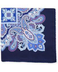 Stefano Ricci - Paisley-print Silk Pocket Square - Lyst