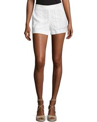 Cece by Cynthia Steffe - Cotton Eyelet Shorts - Lyst